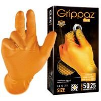 GRIPPAZ Rękawiczki Nitrylowe Pomarańczowe Grube Antypoślizgowe XL opak. 50 sztuk